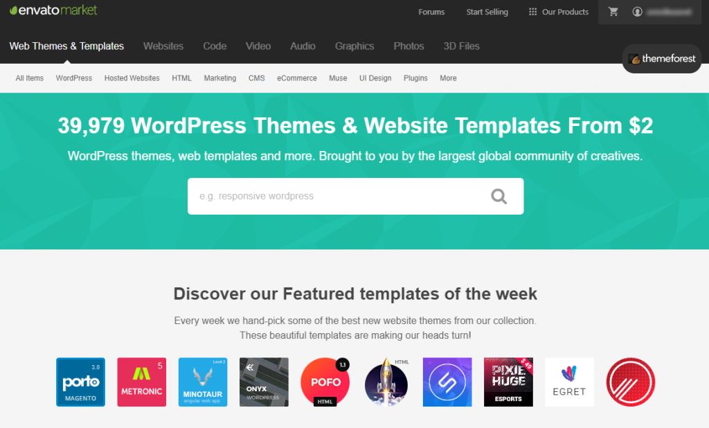 scegliere tema wordpress themeforest