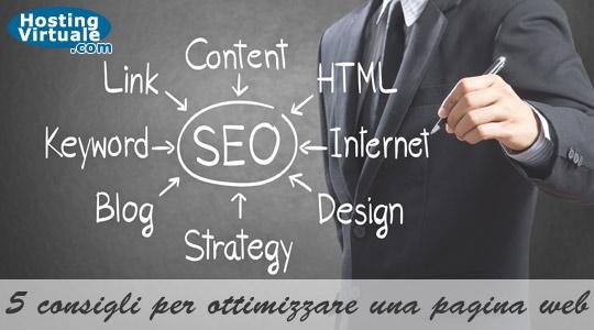 SEO: 5 consigli per ottimizzare una pagina web