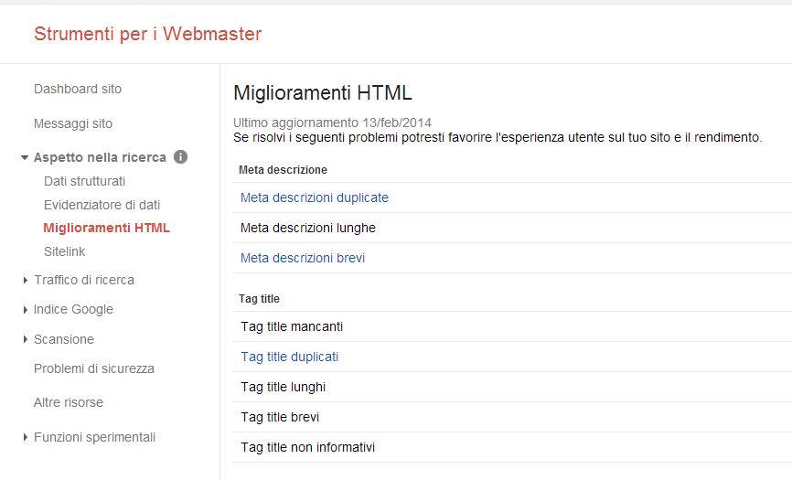 Strumenti per i webmaster