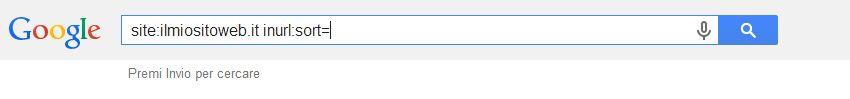 Istruzioni Google site e inurl