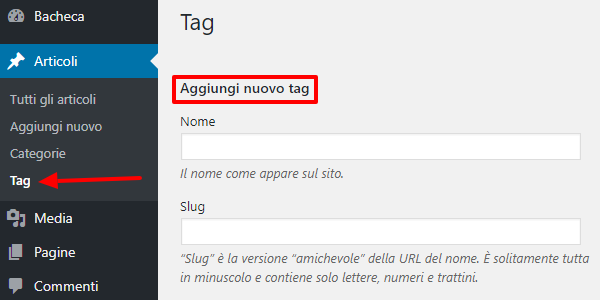 tag wordpress