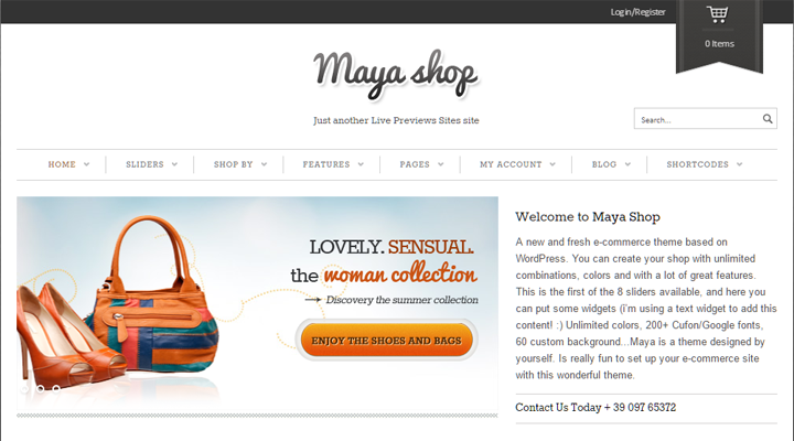 Temi WordPress per eCommerce: Boutique