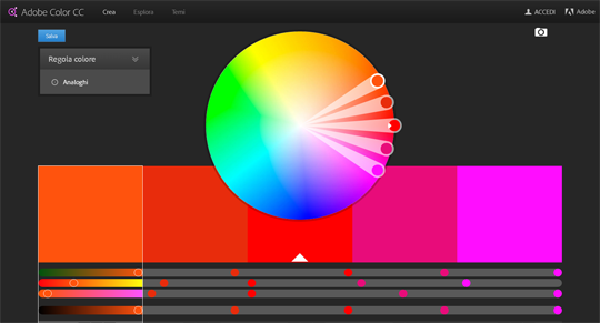 Tool di grafica: Adobe Color CC