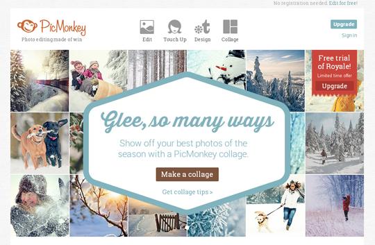 Editing immagini con PicMonkey