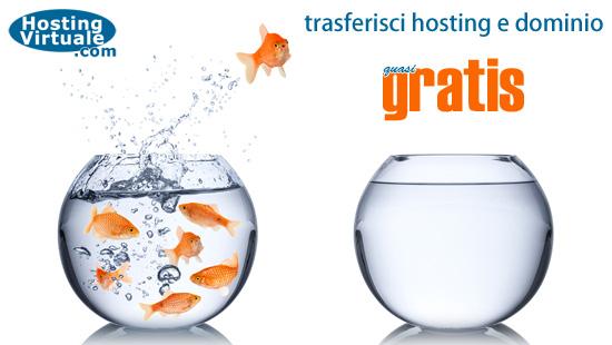 Trasferisci hosting e dominio quasi gratis, dal secondo anno 15 euro per sempre