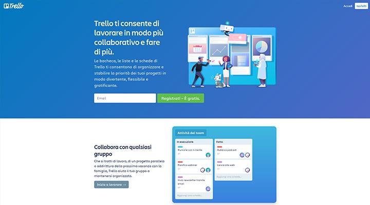 Homepage Trello