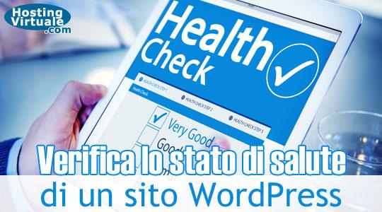 Verifica lo stato di salute di un sito WordPress