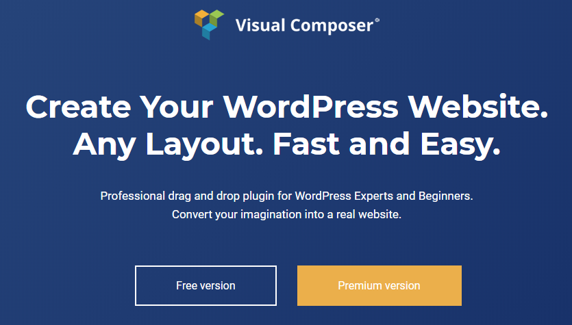 Visual Composer web site