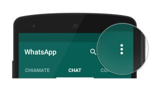whatsapp menu | menu chiamate | menu chat