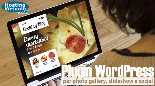 Plugin WordPress per photo gallery, slideshow e social