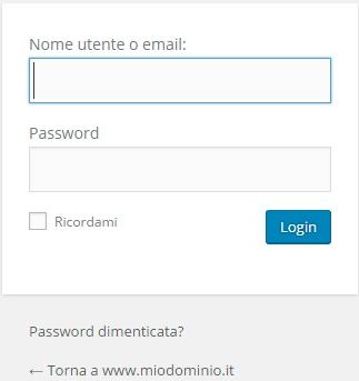 accesso wordpress amministrazione