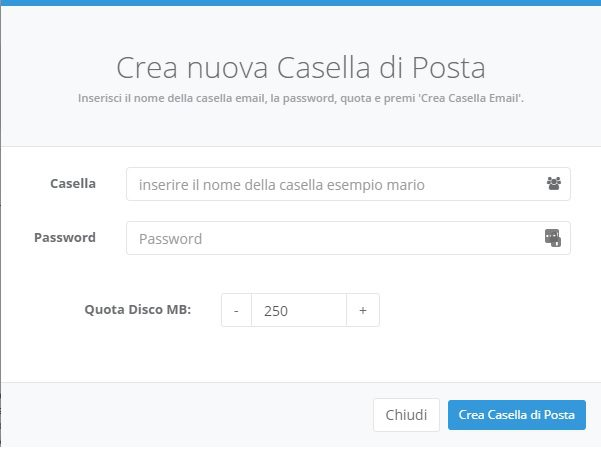 casella password quota