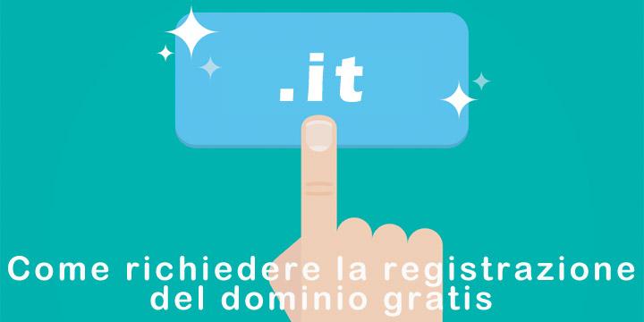 Come richiedere la registrazione del dominio gratis
