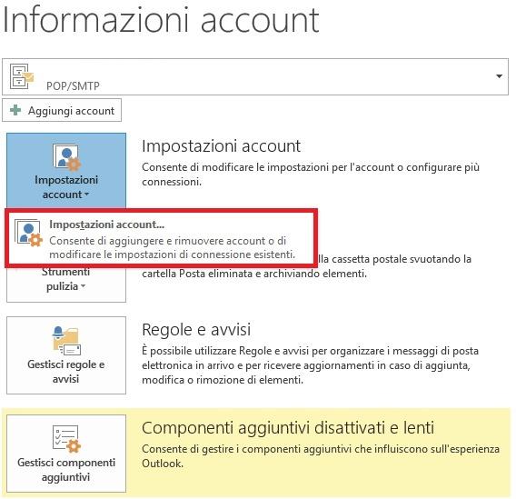 Configurare smtp info account