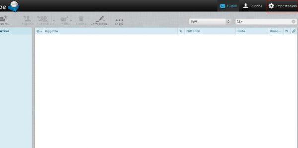 Creare email impostazioni