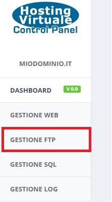 creare utente ftp