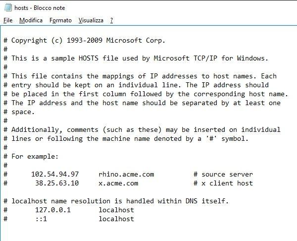 File hosts windows