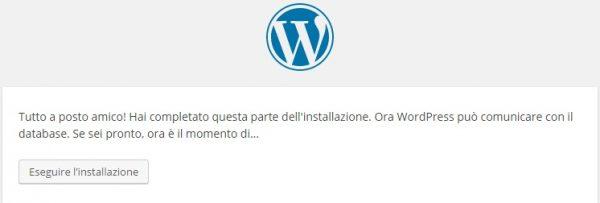 installazione wordpress eseguire installazione