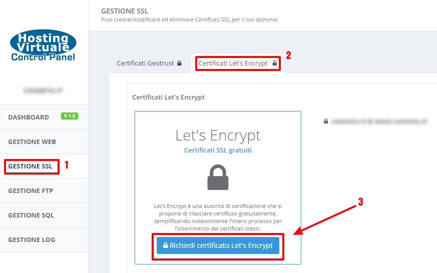Attivazione Let's Encrypt HVCP