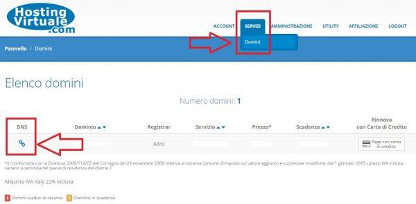 pannello clienti servizi domini