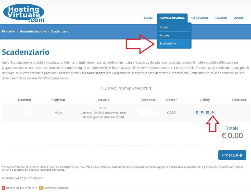 richiesta registrazione dominio