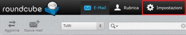 webmail pulsante impostazioni