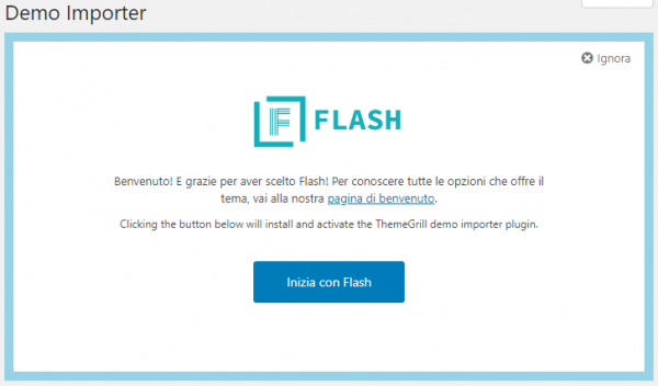 WP Installer: Tema Flash Demo Importer